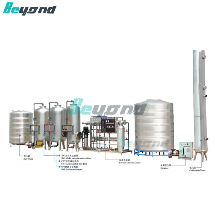 Beyond 10T/H pure /mineral water pre- treatment system