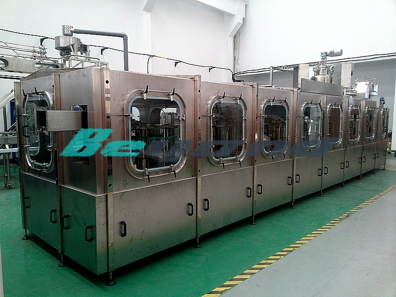 Aseptic cold filling line
